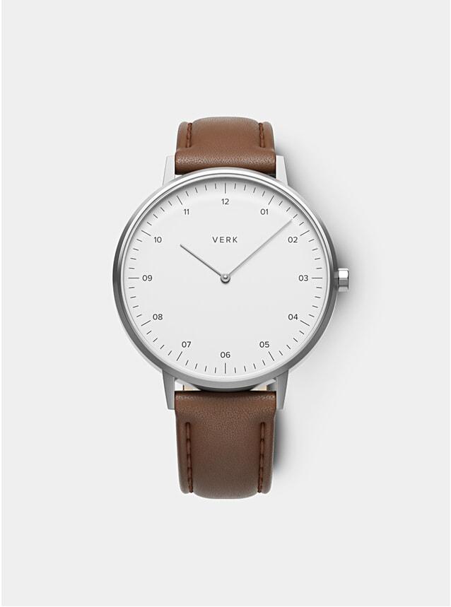 ETT 06 Silver / Tan Leather Watch