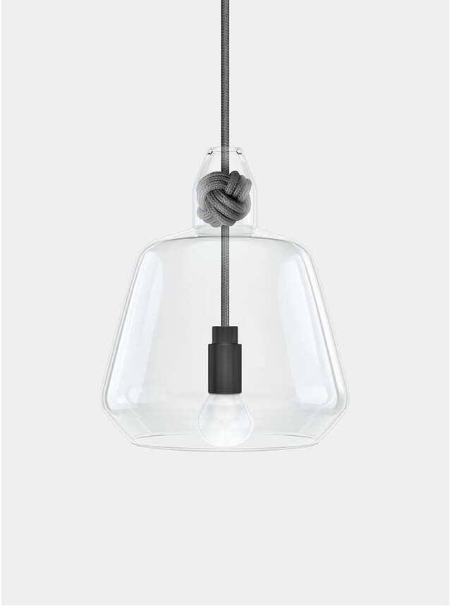 Grey Large Knot Pendant Lamp