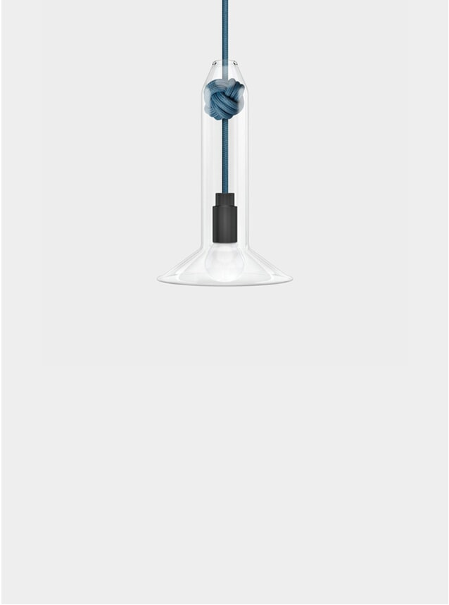 Mid Blue Knot Lamp