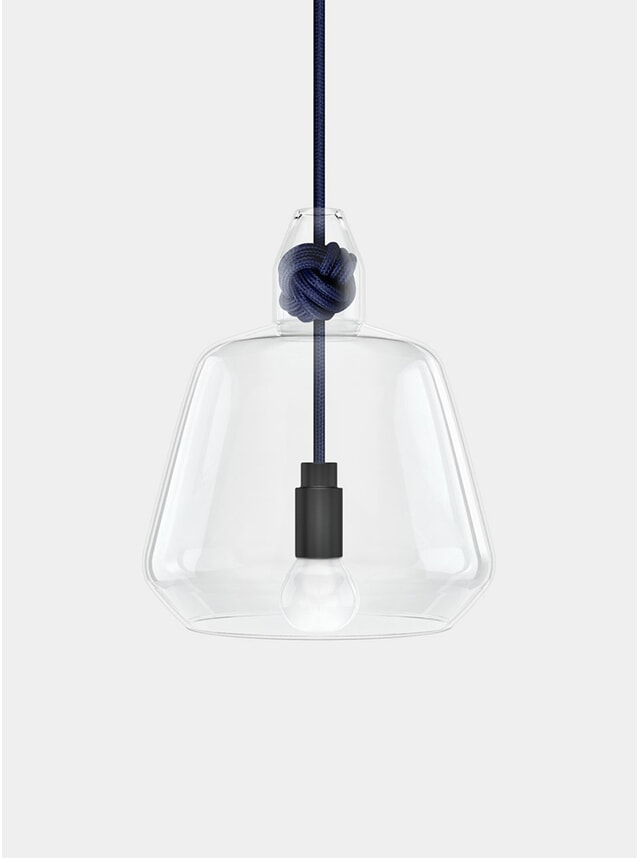 Navy Large Knot Pendant Lamp
