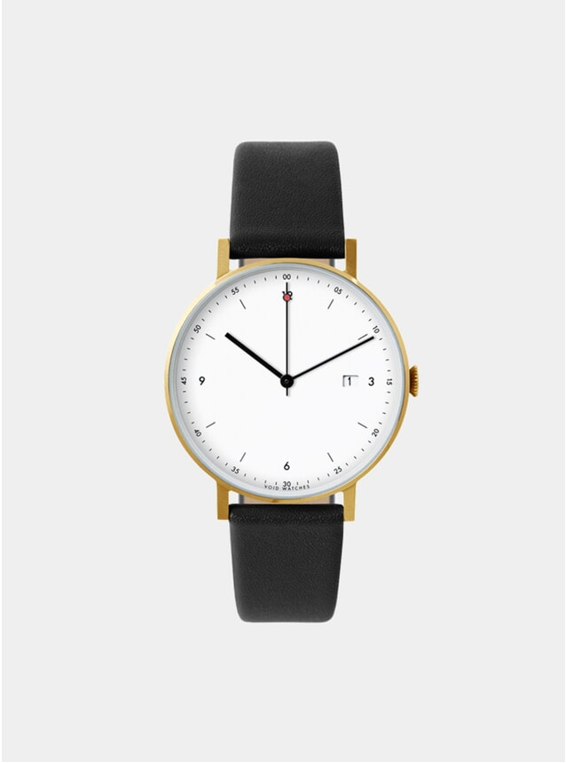 Gold / White PKG01 Watch