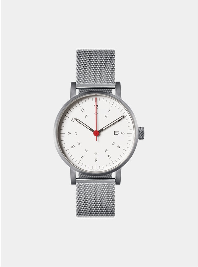 Silver / White VO3D  Watch