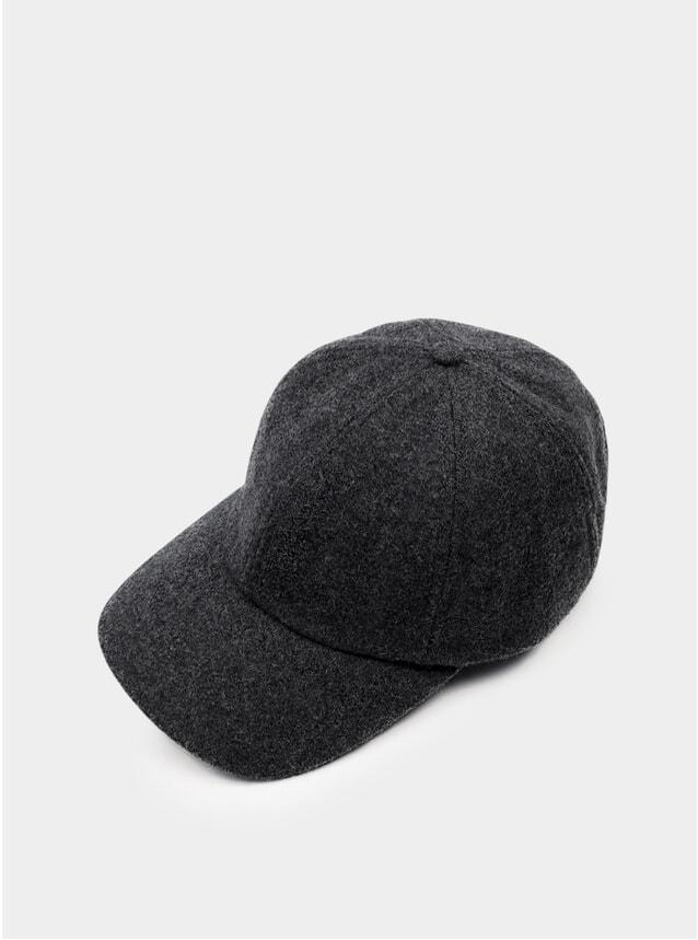 Charcoal Wool Cap