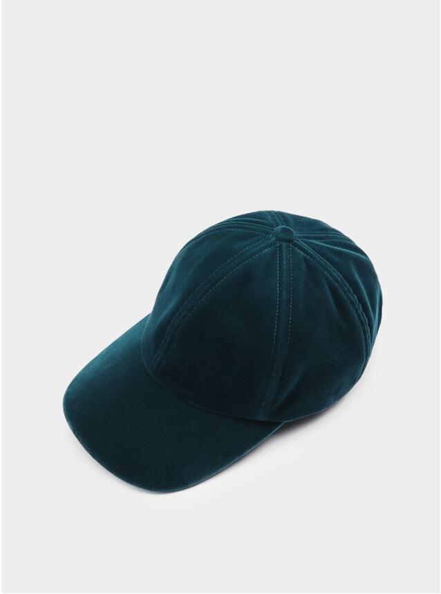 Teal Velvet Cap