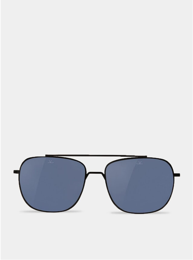 Blue Polar / Matt Black Rectangle Swing Sunglasses