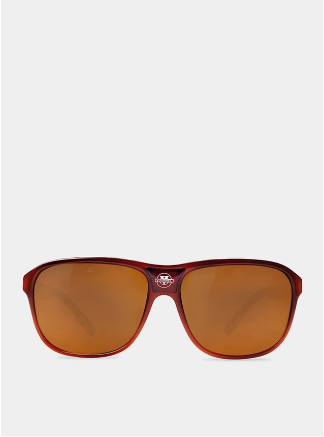 Brown Polar / Red The Dude Sunglasses