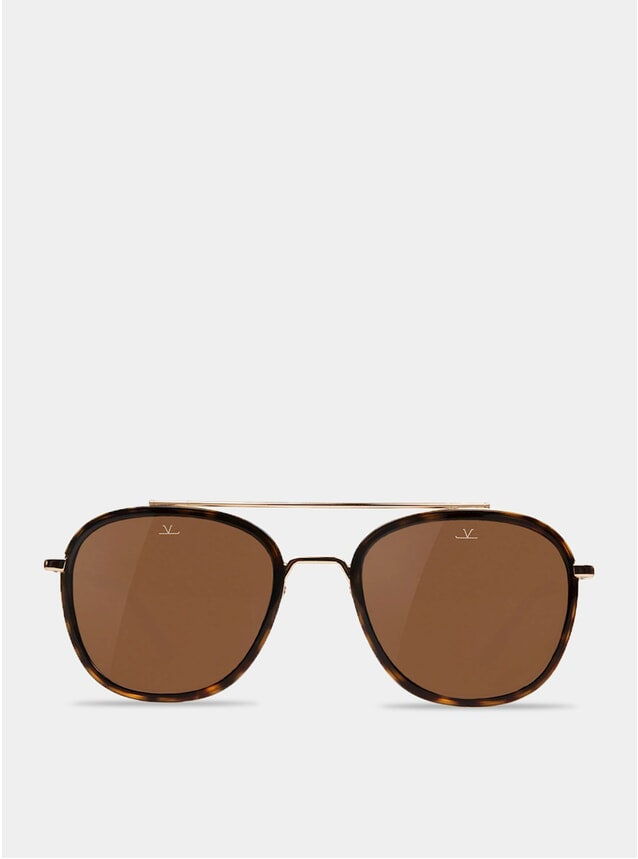 Brown / Tortoise Edge Rectangle Sunglasses
