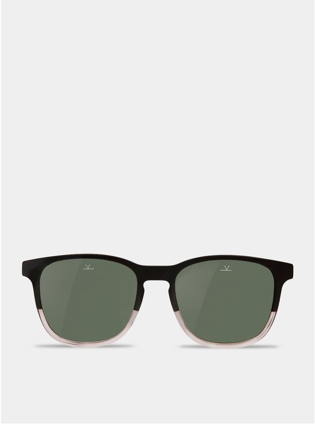 Grey / Matt Black / Transparent Square District Sunglasses