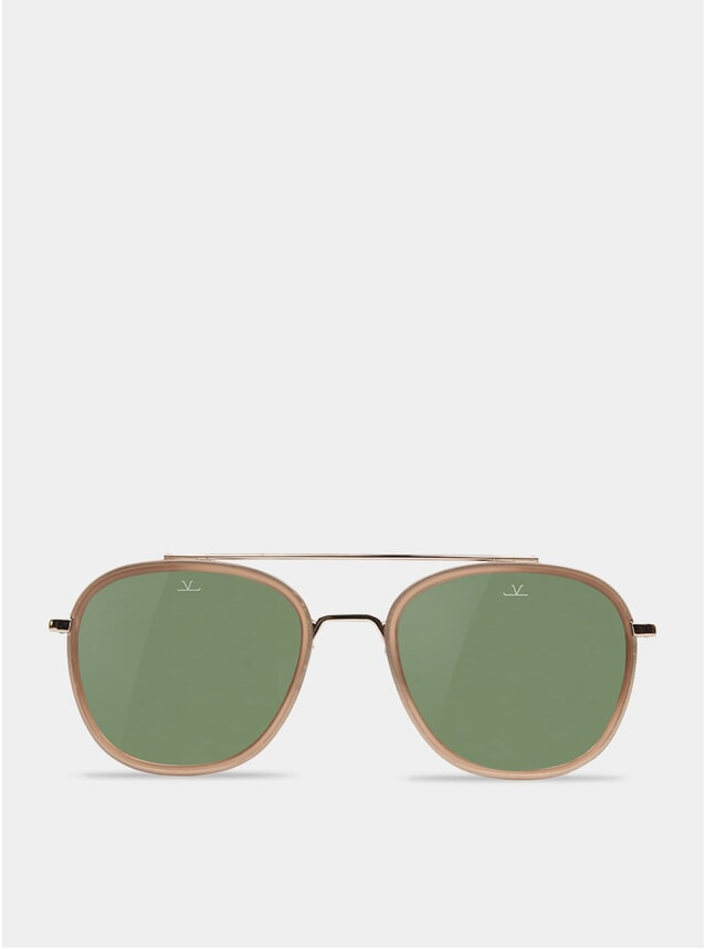 Grey / Transparent Grey Edge Rectangle Sunglasses