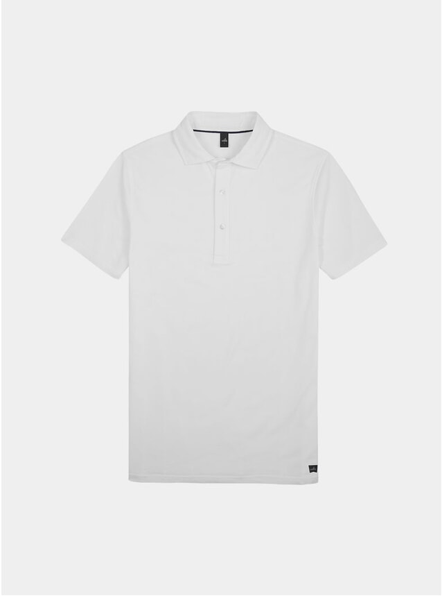 Pure White Davis Polo