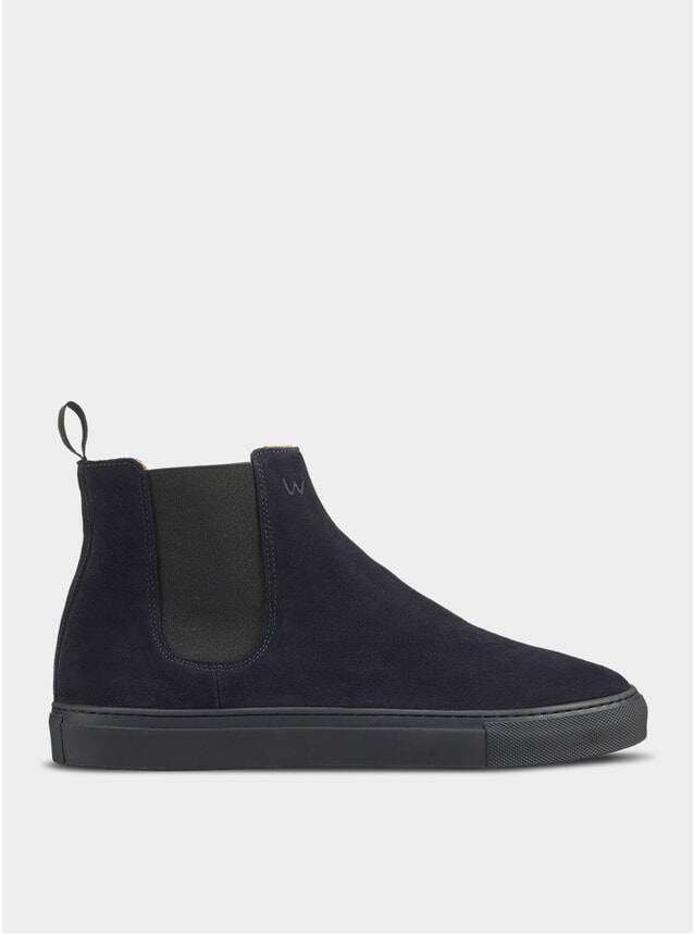 Navy / Black Travers Chelsea Boots