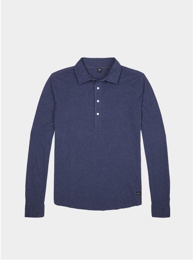 Dark Blue Tailored Polo Shirt