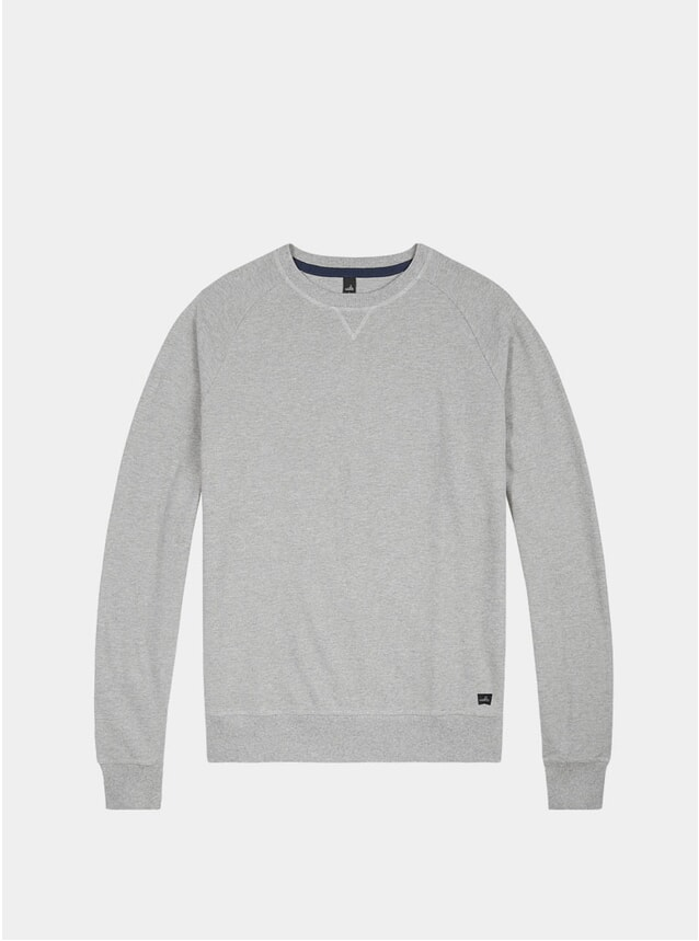 Light Marl Grey Rowe Pique Sweater