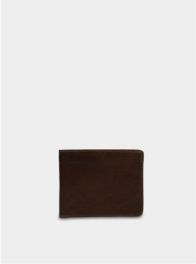 Dark Brown Leather Billfold Wallet