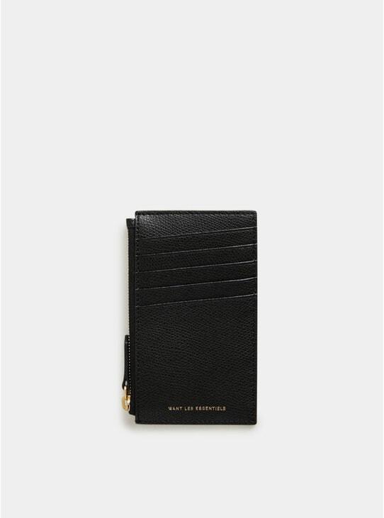 Black Adana Zipped Cardholder