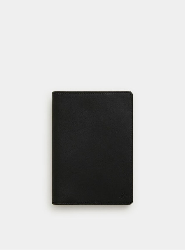 Black / Cognac Pearson Passport Cover