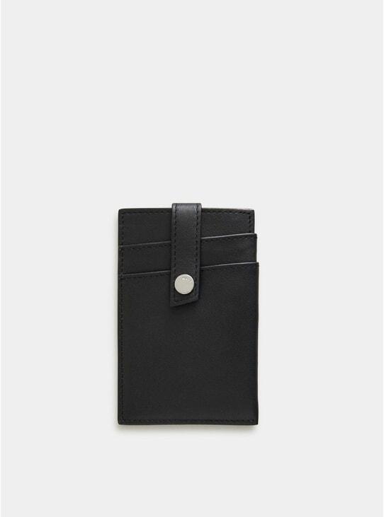 Black Kennedy Leather Money Clip Wallet