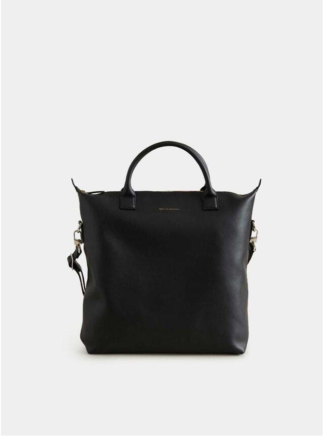 Black O'Hare Leather Shopper Tote Bag