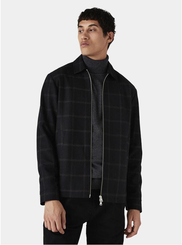 Black Windowcheck Witham Coach Jacket