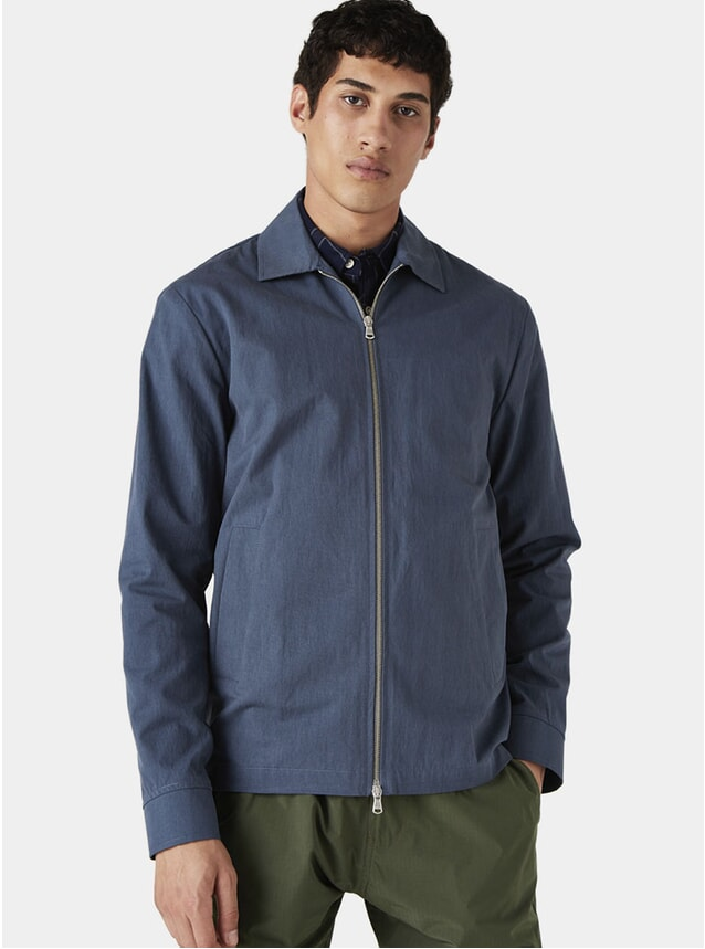 Brushed Blue Witham Coach Jacket