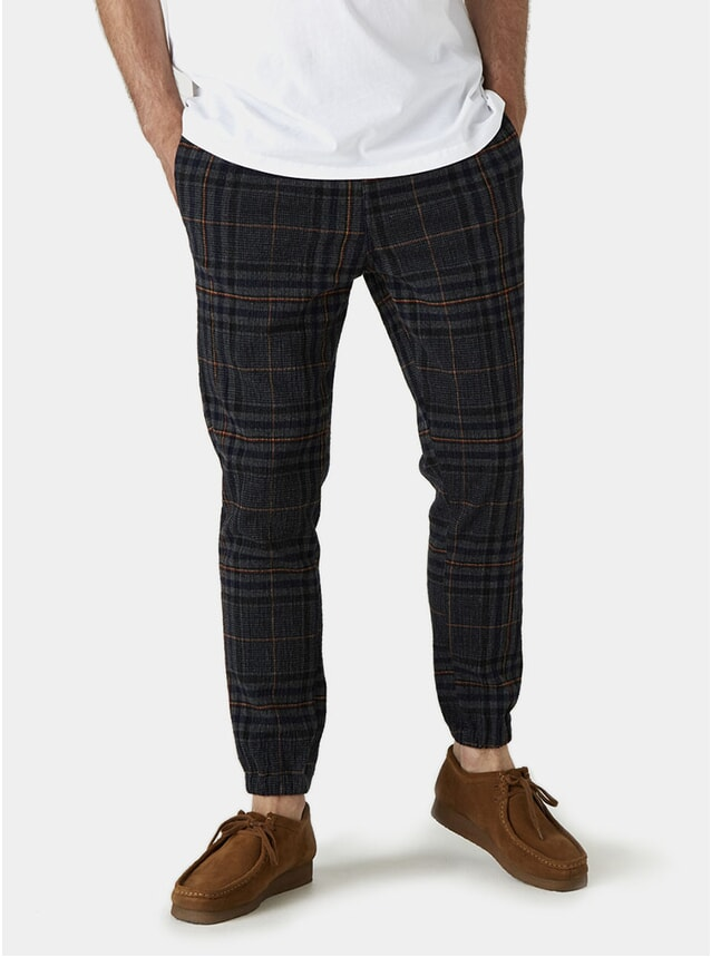 Check Seersucker Tripp Trousers