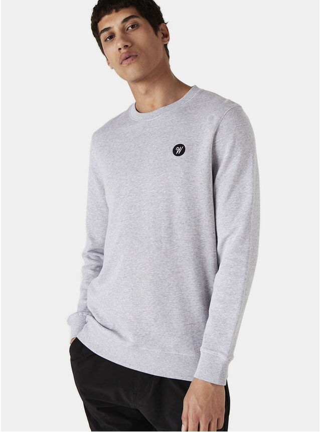 Grey Melange Lind Badge Sweatshirt