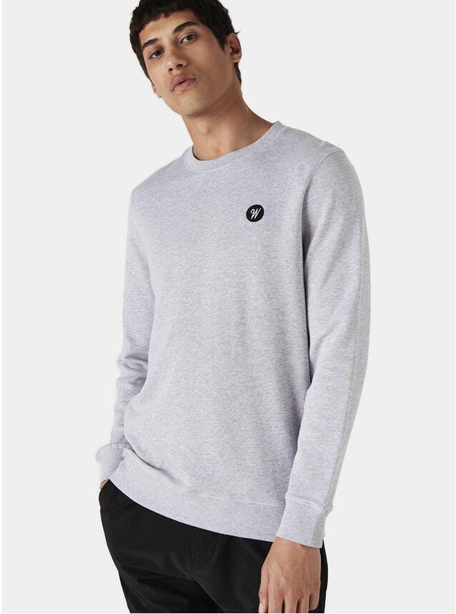 Grey Melange Lind Badge Sweatshirt