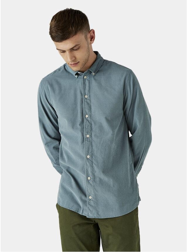 Stormy Sea Cord Bampton Shirt