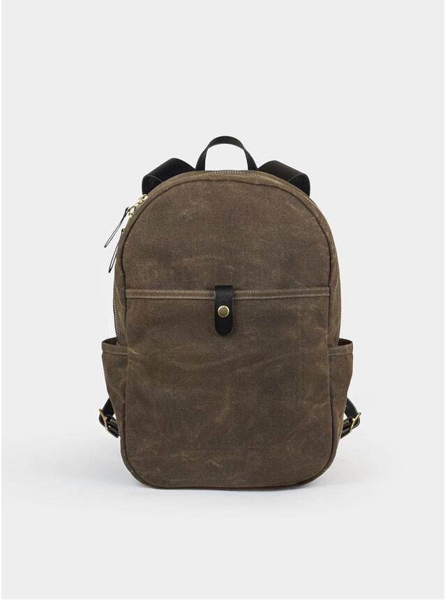 Field Tan Waxed Canvas Backpack