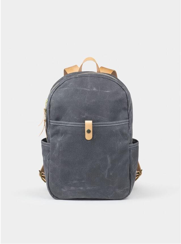 Grey Waxed Canvas Backpack