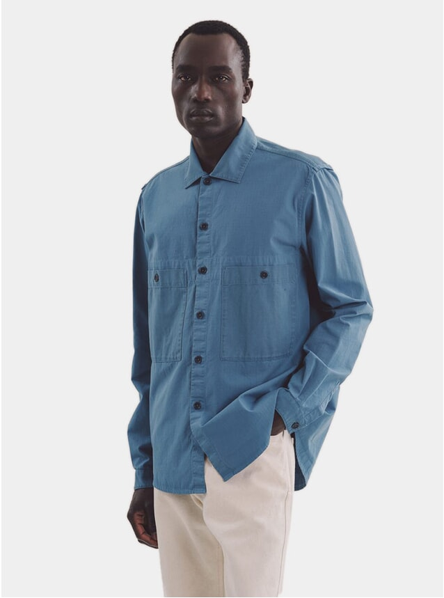 Blue Doc Savage Shirt