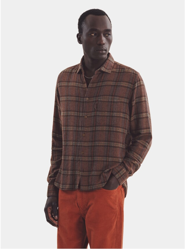 Brown Curtis Plaid Shirt