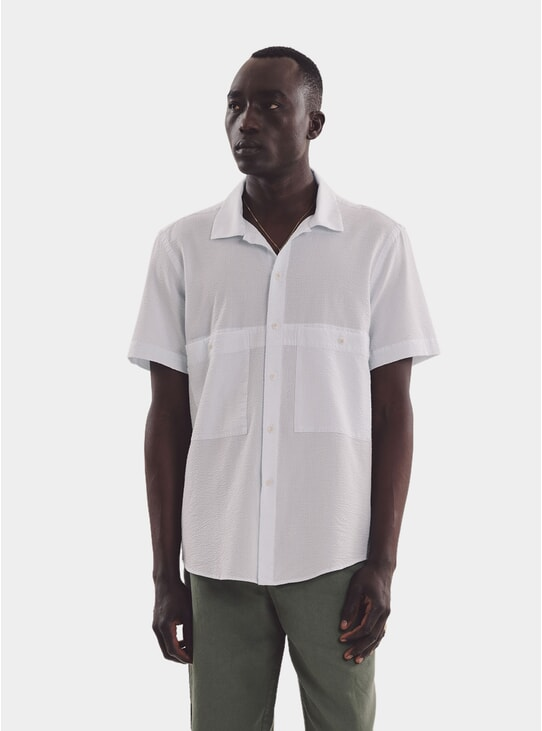 Ecru / Sky Doc Savage SS Shirt