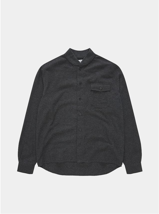 Grey Delinquents Rib Collar Shirt