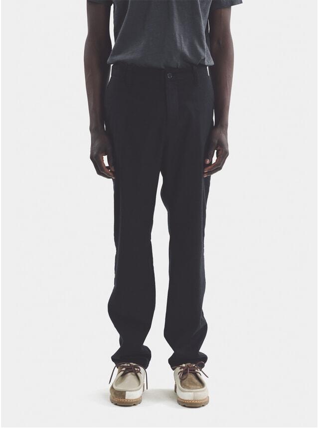 Navy Deja Vu Wool Trousers