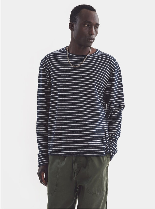 Navy / Ecru Stripe X Sweat