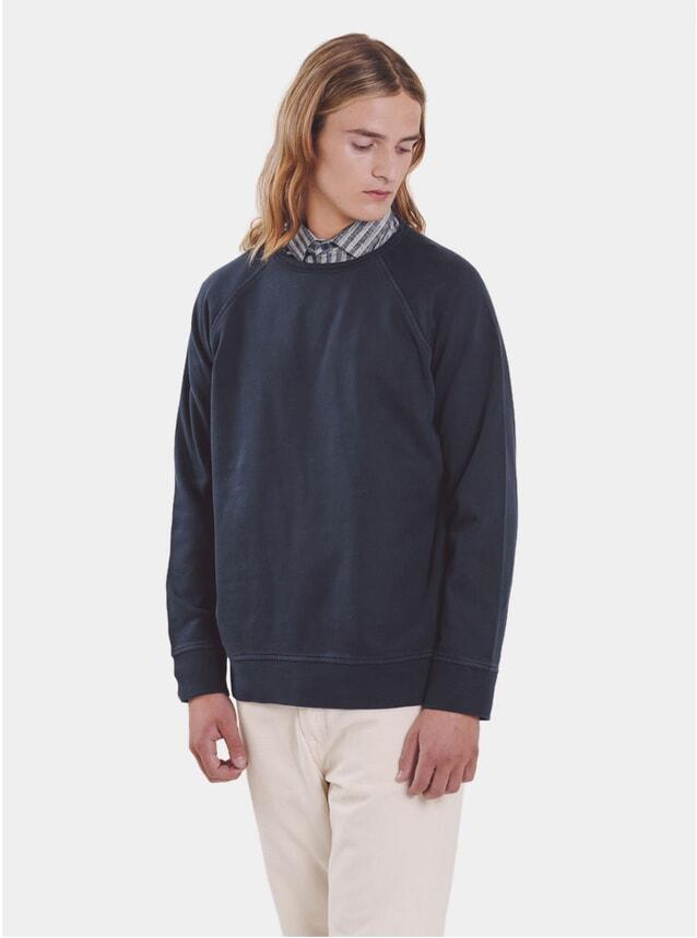 Navy Shrank Raglan Sweatshirt