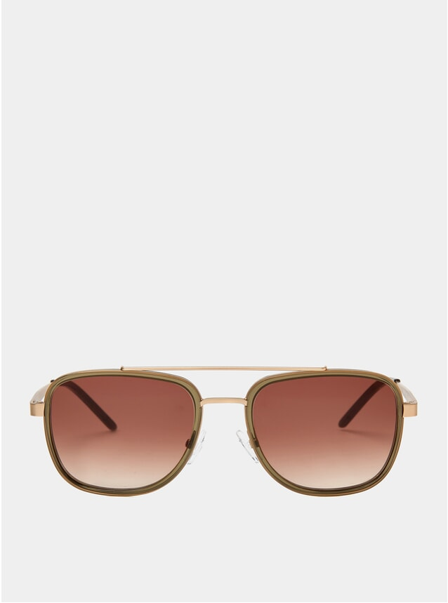Olive Crystal Olmo Sunglasses