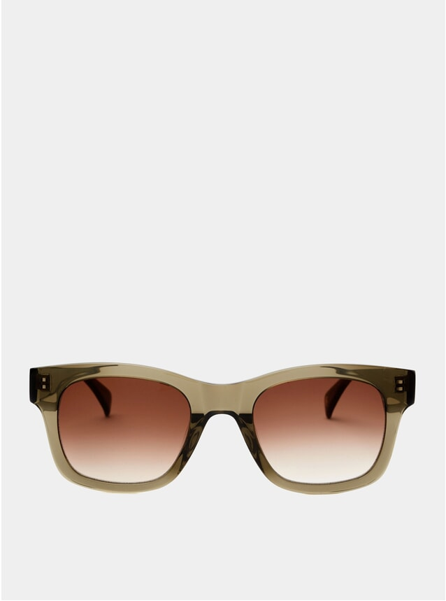 Olive Crystal Simon Sunglasses