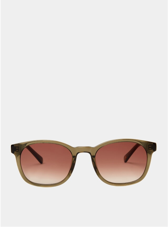 Olive Crystal Woody Sunglasses