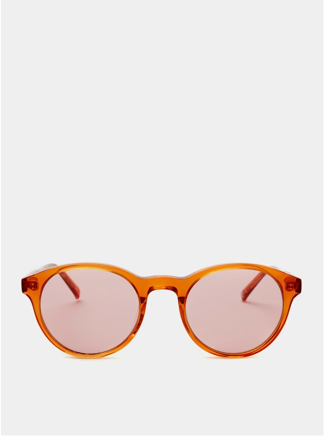 Orange Crystal Bubs Sunglasses