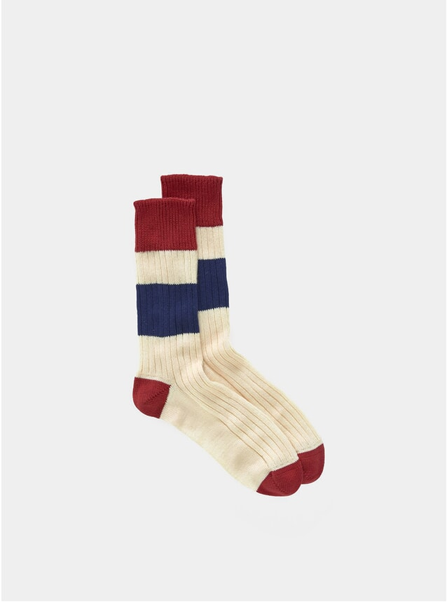 Red / Navy Sport Socks