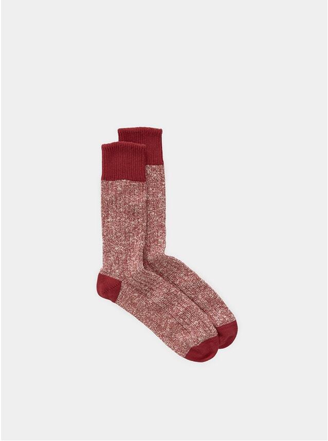 Red Twisted Slub Socks
