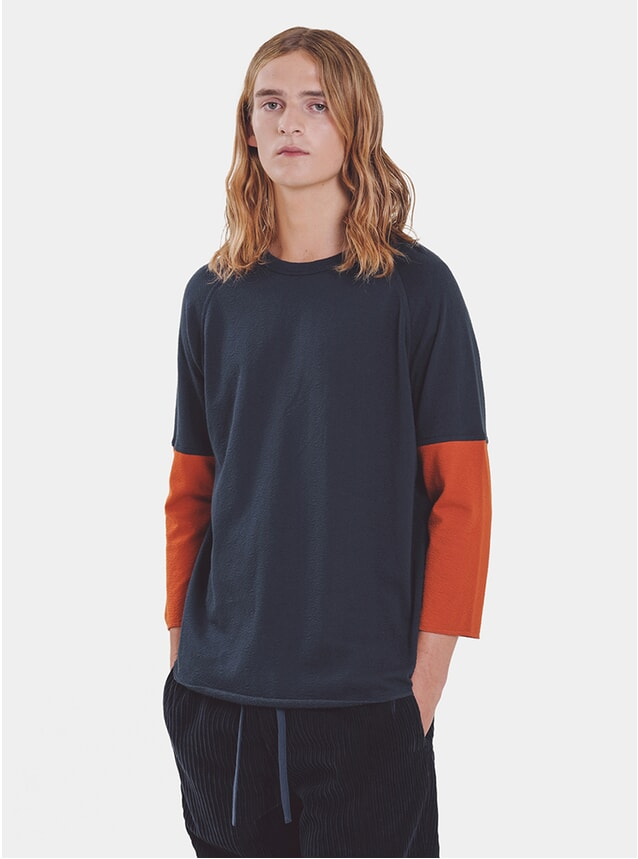 Rust / Navy Szabo Sleeve Top