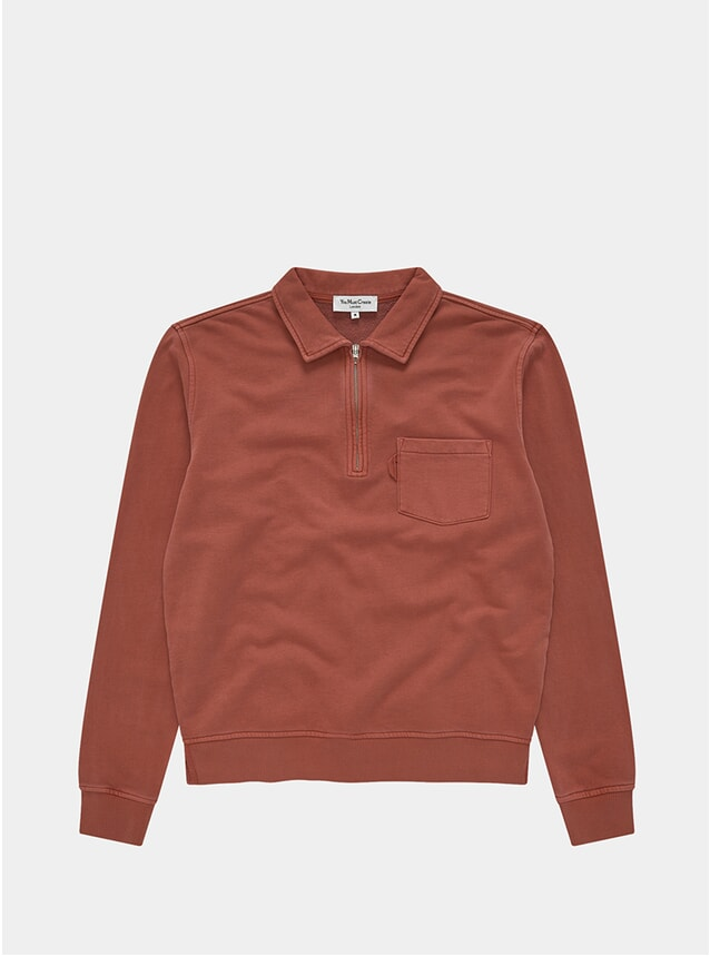 Rust Sugden Zip Sweatshirt