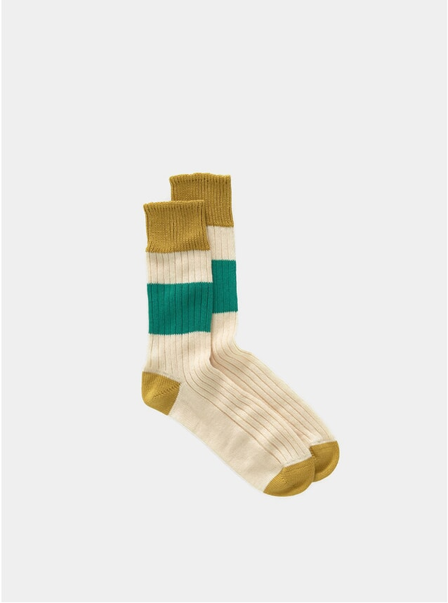 Yellow / Green Sport Socks