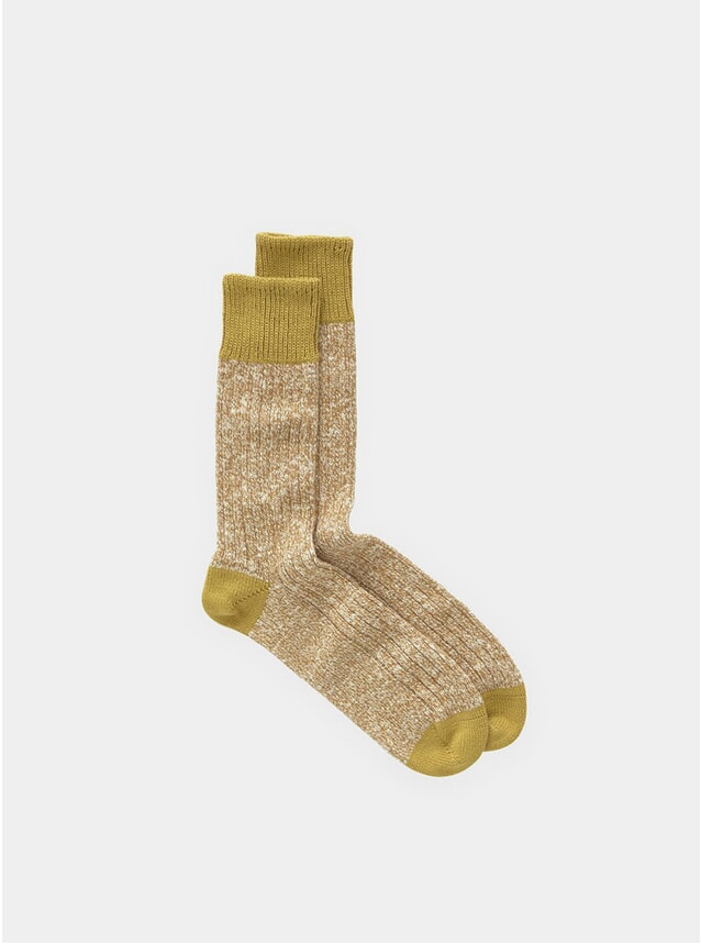 Yellow Twisted Slub Socks