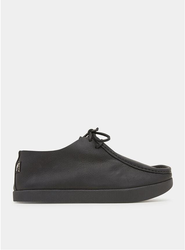 Black Tumbled Leather Willard Negative Heel Shoes