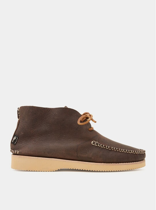 Brown Tumbled Leather Vibram Lucas Moccasins