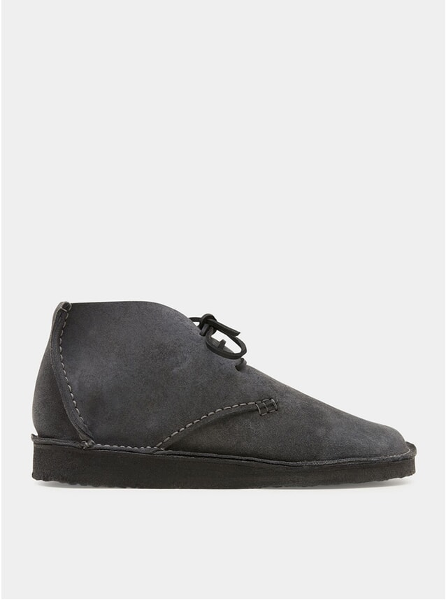 Charcoal Glenn Suede Crepe Boots
